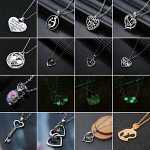 Letter-Mom-Silver-Crystal-Heart-Pendant-Necklace-Chain-Love-Mother-039-s-Day-Gifts