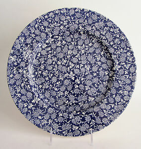 Details about Victorian English Pottery Blackberry Cobalt Blue 12 5