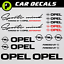 Opel autocollant Sports Mind Powered by motorsport RS Corsa JDM Insignia sticker