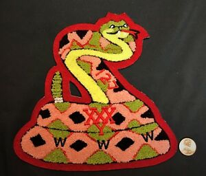 CAHUILLA-OA-127-BSA-CALIFORNIA-INLAND-EMPIRE-CA-CHENILLE-SNAKE-JACKET-PATCH-RARE