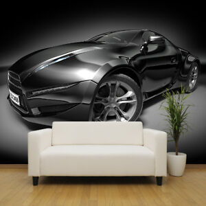 Sports car wallpaper mural childrens bedroom design wm289 for Car wallpaper mural