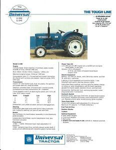 UTB Romania Universal 850 DT Tractor Dealer/'s Brochure LCOH
