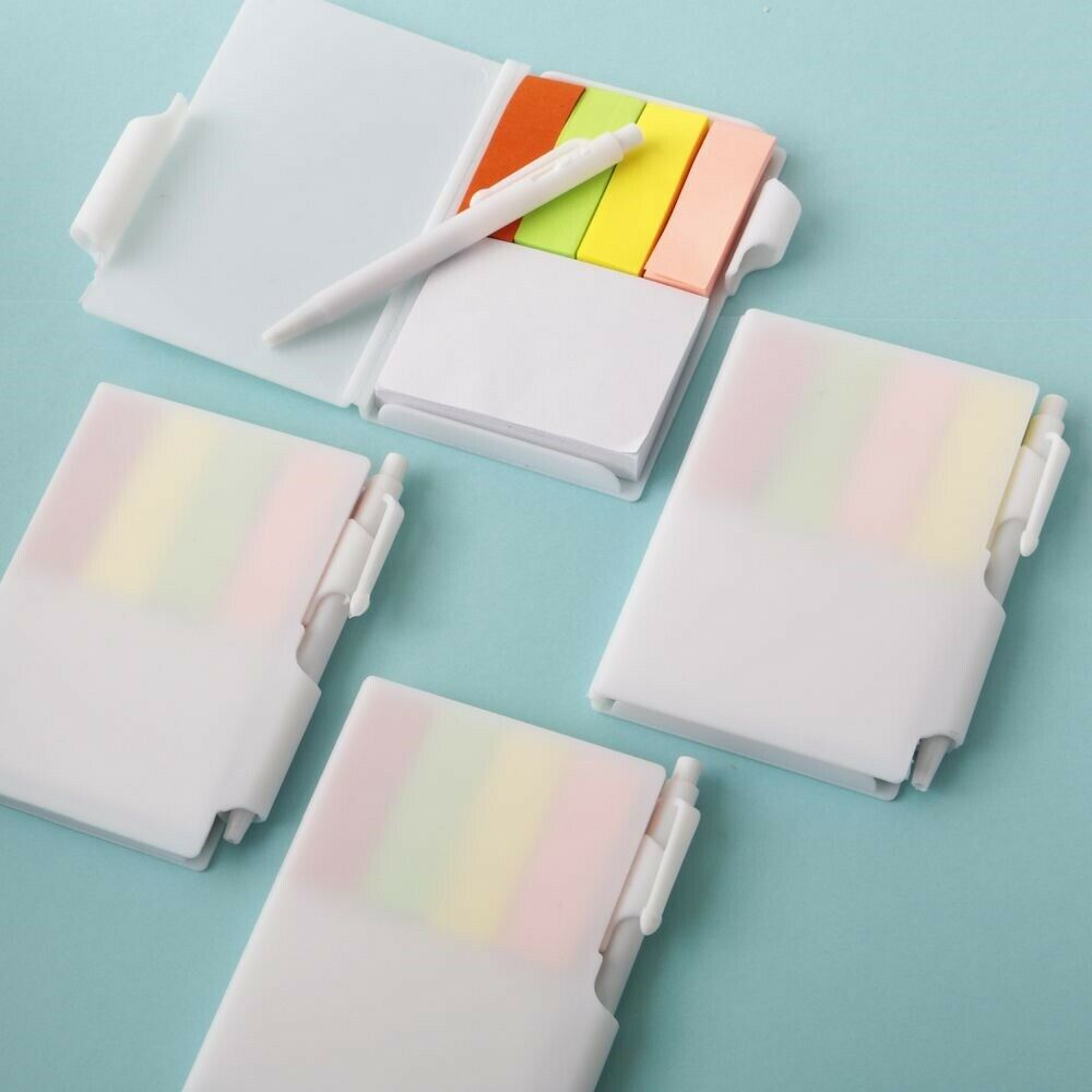 50 Weiß Travel Note Book Pad With Pen And Farbe Tabs Wedding Event Party Favors