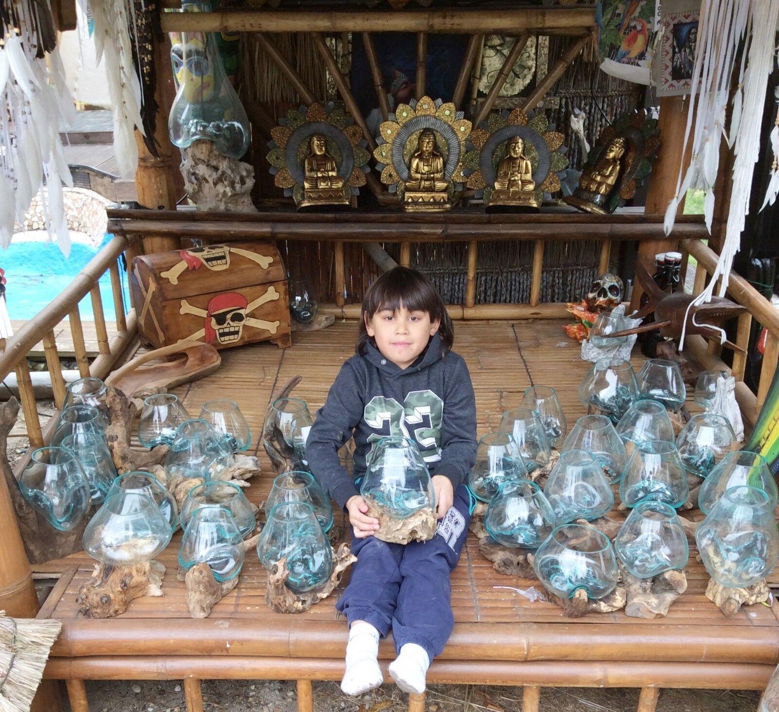 3 loupe de bois pièce unique verre Vases Design Gamal Pot Décoration 2019