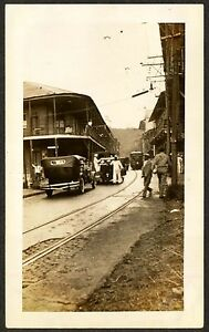 Details about 1934 USS Tennessee Sailors, Soldiers, Civilians, Street scene  in Balboa Panama