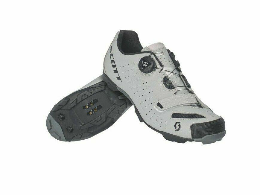 chaussures CICLISMO SCOTT MTB COMP BOA Couleure noir-gris REFLECTIVE