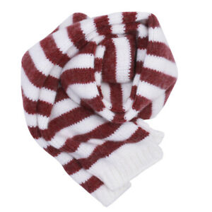 Toddler Girls Boys Christmas Striped Red and White Scarf