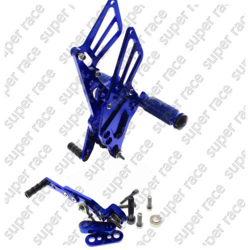 Adjustable CNC Rearsets Footpegs Pedal Footrest For Suzuki GSXR1000 09-2014 Blue