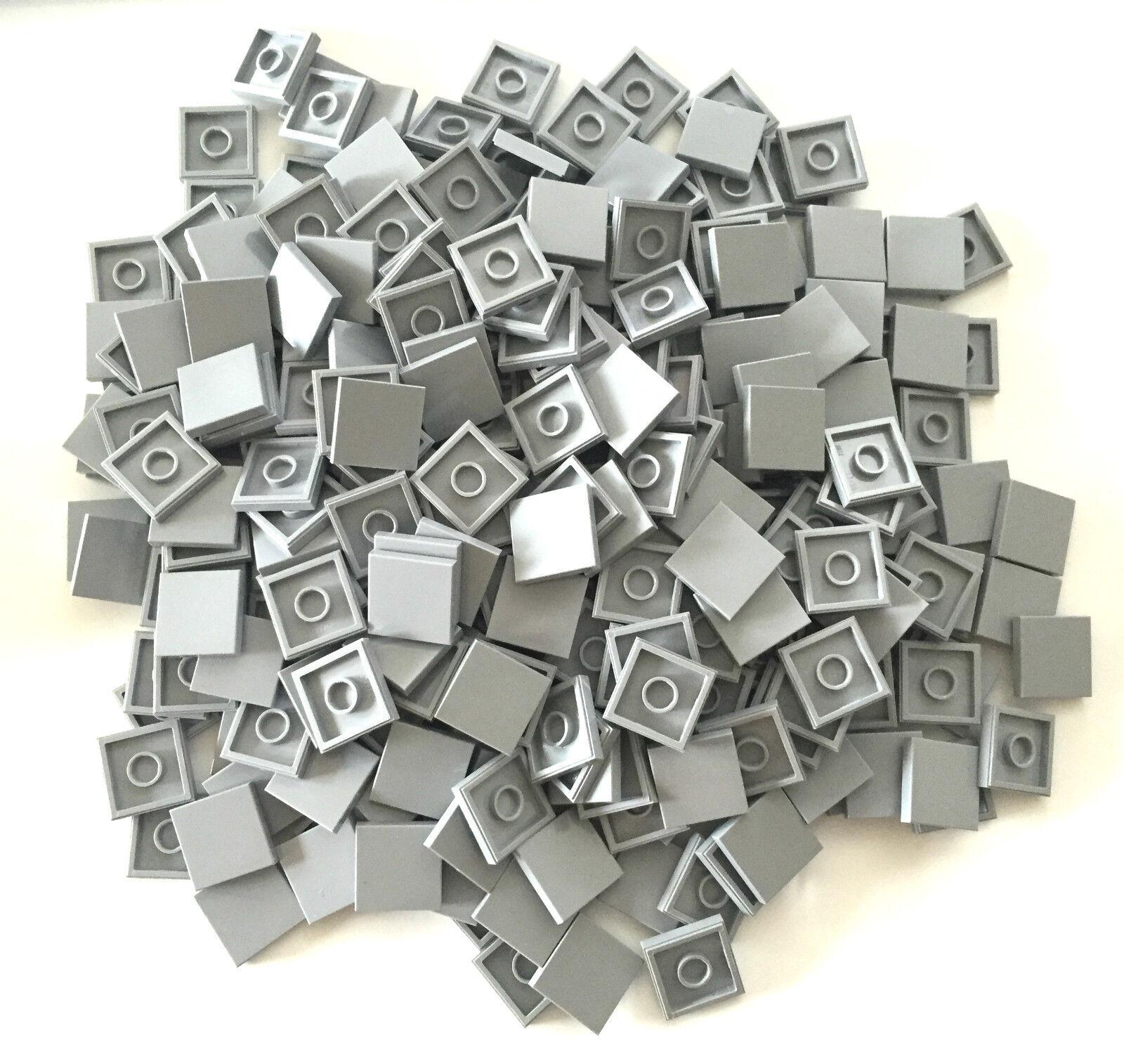 *NEW* 500 Pieces Lego SMOOTH TILE 2x2 BLUISH Gris *BULK* 3068