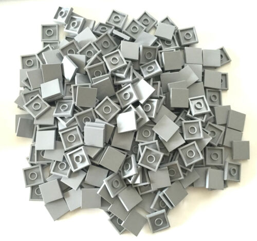 *NEW* 500 Pieces Lego SMOOTH TILE 2x2 BLUISH GRAY *BULK* 3068