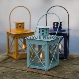 Image Is Loading Nautical Mini Lantern Tealight Holder Hanging Metal Amp