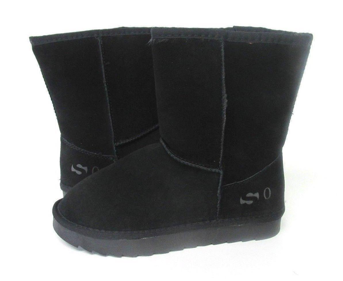 NEW WOMEN BOOT SO BRAND CLASSIC SHORT BLACK 1232 ORIGINAL