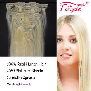 Platinum-Blonde-60-Clip-In-100-Human-Hair-Extensions-15inch