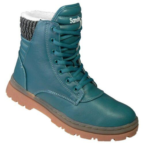 Trekking Damen Stiefel Winter Schuhe D13 Dunkel-Grün Winterstiefel Outdoor Boot