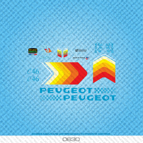 Transfers Peugeot C46 Bicycle Decals Stickers Set 630