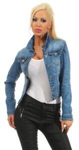 Das Bild wird geladen 4978-Knackige-Damen-Jeansjacke-Damenjacke-Jeans-Jacke- Kurze- 45a676b209