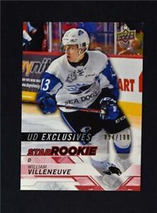 2018-19-UD-Upper-Deck-CHL-Star-Rookies-Exclusives-335-William-Villeneuve-100