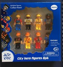 City Hero Figure Figures Lego People Police EMT Fireman Just Kidz Toy 8 Man New