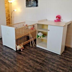 Détails sur Chambre de Bébé Complet Set Lit 70x140 Convertible Jeunesse  Commode à Langer
