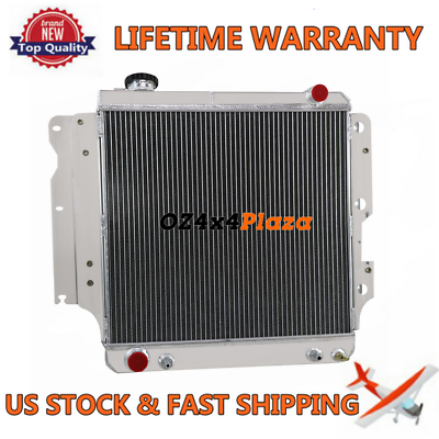 3Row Aluminum Radiator FOR Jeep Wrangler YJ TJ 2.4L-4.2L 1987-2006