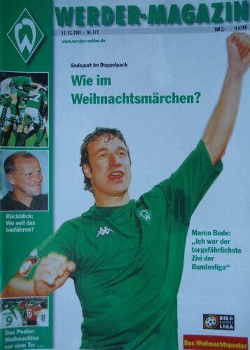 Borussia Dortmund Programm 2001//02 SV Werder Bremen SC Freiburg