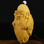 "thumbnail 2 - 3.1"" Chinese Box-wood Hand Carving Taoism Longevity God Old Man Statue Pendant"