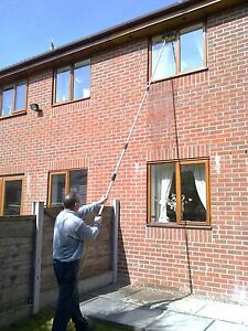 13FT WATERFED TELESCOPIC EXTENDABLE WINDOW CLEANING POLE CONSERVATORY ROOF KIT 760625640462