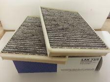 BMW E39 520i 523i 525i  Mahle Carbon Pollen Cabin Filters X 2 1996-2004