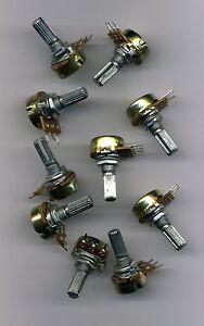 Lot De 10 Potentiometres Lineaires 220 Kohm - Axe 6 Mm Mme5tvu5-07230051-479131064