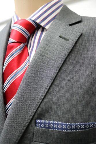 RRP £180 Grey Crossweave Mixed Wool Suit Jacket