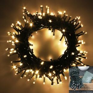 size 40 898bd 03d14 Details about WATERPROOF LED Outdoor Battery Christmas Lights String Fairy  8 Functions