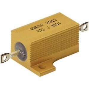 Ate electronics rb25// resistenza di potenza 0.1 assiale 25 w 5 1 pz
