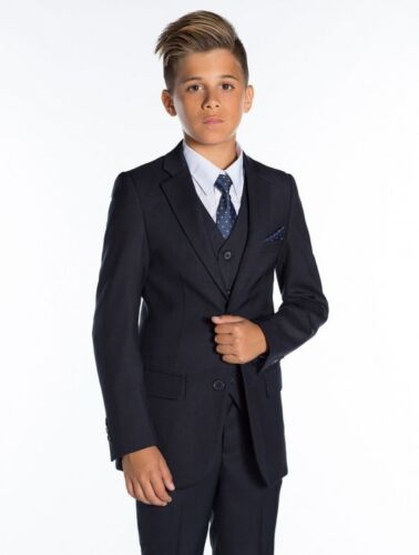 Boys Suits 3 Piece Slim Fit Suit Groom Wedding Tuxedo Page Boy Baby Formal Party