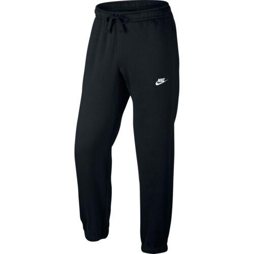 Nike Club Cuff Fleece Pants Mens 804406-010 Black Cuffed Sweatpants Size M