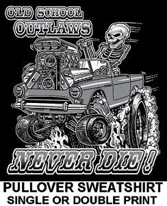 SUNBEAM TIGER OLD SCHOOL MUSCLE HOT ROD OUTLAW BLOWER RACE CAR SKULL SWEATSHIRT