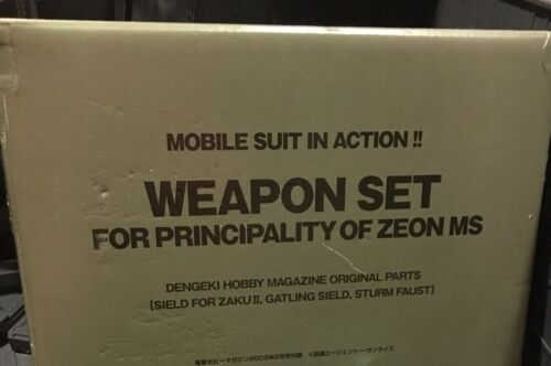 Bandai Gundam Zeon WEAPON SET MITRAILLEUSE GATLING missile Figurine MSIA arme lot