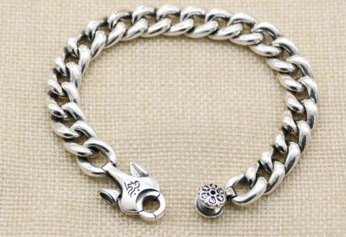 B21 Herren Armband buddhistisch Vajra Symbol 16-22 cm Sterling Silber 925