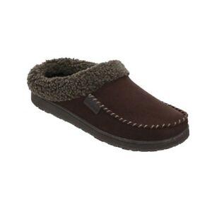 316296867995 Dearfoams Coffee Dark Brown Men s Memory Foam Clog Slippers Size L ...