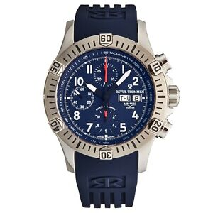 Revue Thommen Men's Airspeed Blue Dial Chronograph Automatic Watch 16071.6825