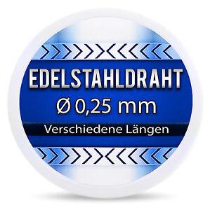 Edelstahldraht-V2A-0-25-mm-1-4301-Heizdraht-Draht-Edelstahl-Widerstandsdraht