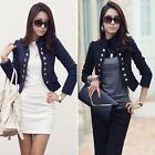Women Long Sleeve Cardigans Office Wear Suit Blazer Casual Short Coat Jacket Top