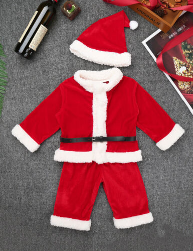 Girls Boys Fahter Christmas Santa Clause Costume Kid Baby Xmas Party Fancy Dress