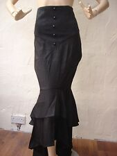 Ladies Gothic Victorian Steampunk Fishtail Ruffles Mermaid Corset Skirt Size 20