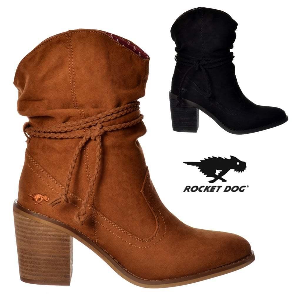 spedizione e scambi gratuiti. Donna Ragazze Rocket Dog Vice Stivaletti Cowboy Western Nero Cannella Cannella Cannella NUOVO  servizio di prima classe