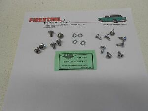 1955-1956-1957-Chevy-Chevrolet-20-153-GLOVE-BOX-amp-HINGES-SCREW-SET-New