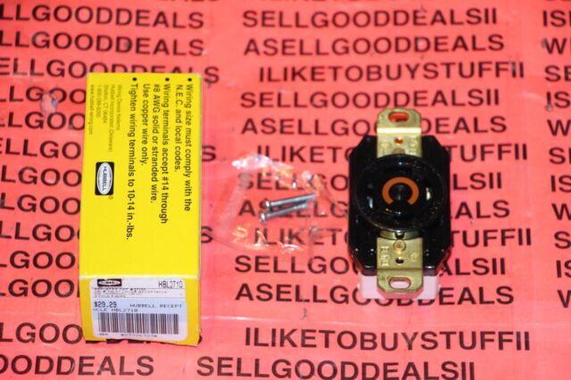 Hubbell Hbl2710 Twist Lock Receptacle 30a 125  250vac 3