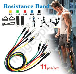 Resistance-Bands-Workout-Exercise-Yoga-11Pcs-Crossfit-Fitness-Training-Tubes