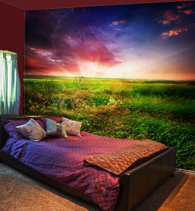 3D Grassland rot Cloud WallPaper Murals Wall Print Decal Wall Deco AJ WALLPAPER