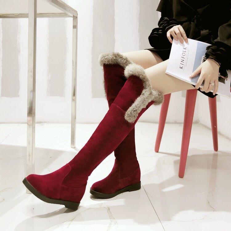 vieni a scegliere il tuo stile sportivo Stivali coscia scarpe donna tacco 5 cm cm cm rosso alti comodi caldi simil pelle 8977  ampia selezione