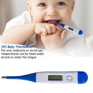 Termometro-Digital-LCD-Medico-bebe-adulto-cuerpo-Ninos-Seguro-oreja-Boca-De-Temperatura